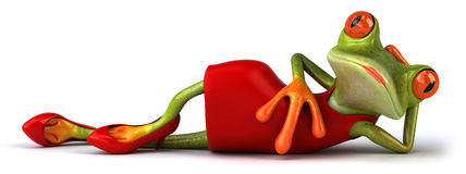 Сексуальная лягушка Стоковая Фотография RF