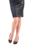 Сексуальная womanish нога в ботинках стоковое изображение rf