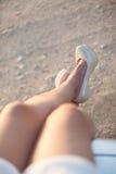 Сексуальные ноги женщины на высоких пятках Стоковые Фото
