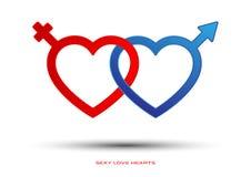 Сексуальные сердца влюбленности Стоковые Фото