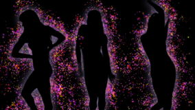 Сексуальные танцоры частицы бесплатная иллюстрация