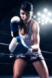 Сексуальный бокс женщины Стоковое Фото