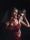Сексуальный вампир девушки Стоковые Фото