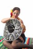 Сексуальный застенчивый Pin мексиканца вверх по девушке Стоковое Фото