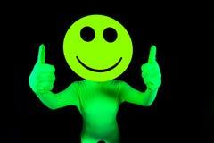 Сексуальный кисловочный танцор неистовства smiley Стоковое фото RF