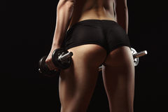Сексуальный конец-вверх ишака фитнеса стоковое изображение rf