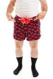 Сексуальный подарок рождества - Гай в боксерах Стоковые Фото