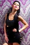 Сексуальный танцор женщины с ярким составом Стоковое Фото