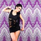 Сексуальный танцор женщины с ярким составом Стоковое Изображение