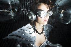 Сексуальный танцор диско в костюме решителя Стоковое Изображение