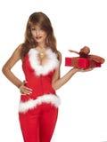 Сексуальный хелпер santa на белизне Стоковые Фотографии RF