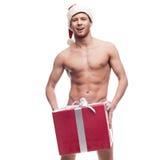 Сексуальный человек рождества Стоковое фото RF