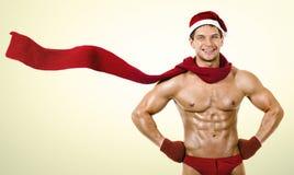 Сексуальный человек Santa Claus Стоковые Изображения