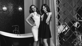 2 сексуальных девушки нося платье Стоковая Фотография RF