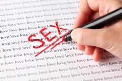 Секс и влюбленность Стоковая Фотография