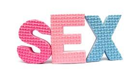 Секс сказанный по буквам вне стоковые фото