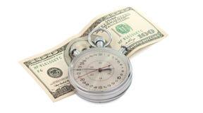 секундомер доллара счета Стоковое Изображение RF