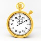 секундомер золота Стоковое Фото