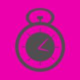 Секундомер на розовой предпосылке Стоковое Изображение