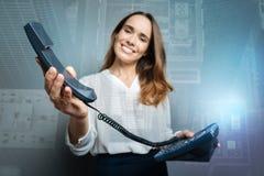 Селективный фокус приемника телефона Стоковое фото RF