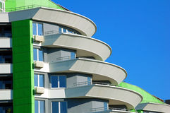 селитебное дома балкона новое стоковые фото