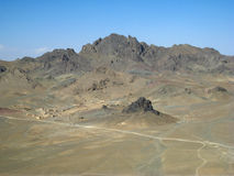 село Афганистана запустелое южное Стоковые Фотографии RF