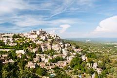 село вершины холма gordes Стоковая Фотография RF