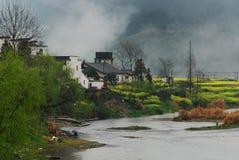 село весны реки Стоковые Фото
