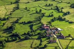 Село в burgundy Стоковое Изображение