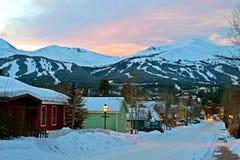 село городка лыжи Стоковое Фото
