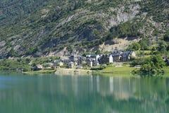 село долины tena pyrenees lanuza Стоковое Изображение