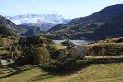 село долины tena pyrenees lanuza Стоковые Изображения RF