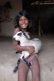 село индейца девушки стоковое изображение rf