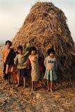 село индейца детей стоковое изображение