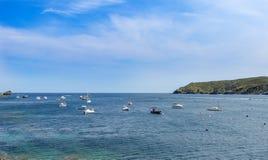село Испании рыболова cadaques Стоковое Изображение
