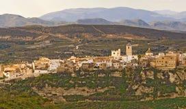 село Испании sorbas almeria andalucia стоковые изображения