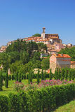 село Италии рисуночное umbria Стоковое фото RF