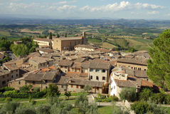 село Италии старое Тосканы стоковые изображения