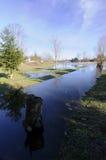 село канала стоковая фотография