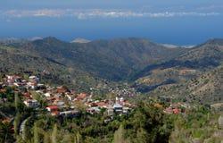 село Кипра Стоковое Фото