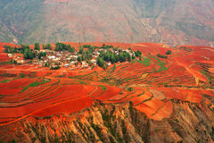 село красного цвета земли Стоковое Изображение RF