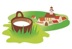 село молока ландшафта Стоковые Фотографии RF