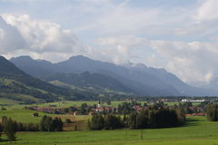 село немца alps Стоковая Фотография