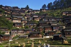 Село несовершеннолетия Miao Стоковое Изображение RF