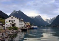 село Норвегии Стоковая Фотография