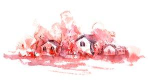 село осени иллюстрация штока
