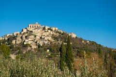 село Провансали вершины холма стоковое фото rf