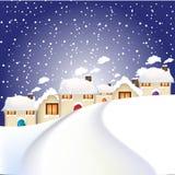 село рождества Бесплатная Иллюстрация