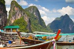 Село рыболова Panyee Koh Стоковое Изображение