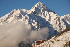 село снежка горы alps Стоковое Фото